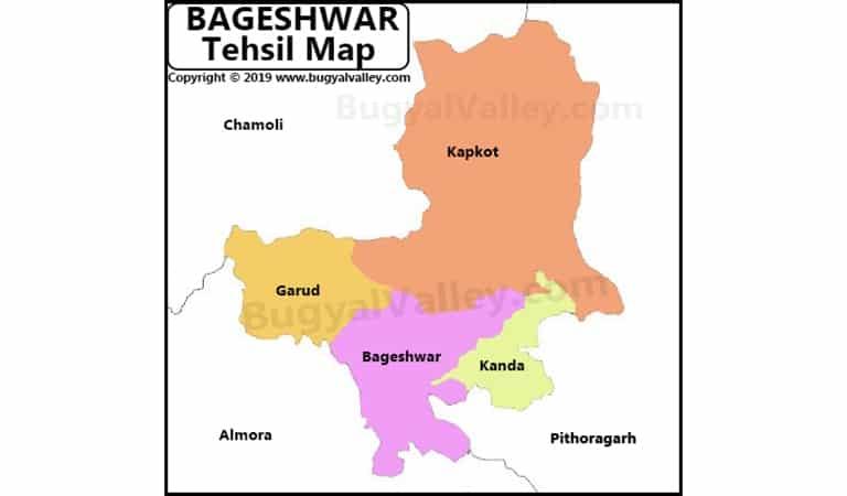 Bageshwar Map