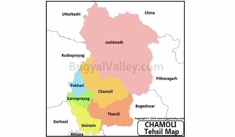 Chamoli Map