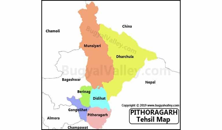 Pithoragarh Map