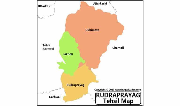 Rudraprayag Map