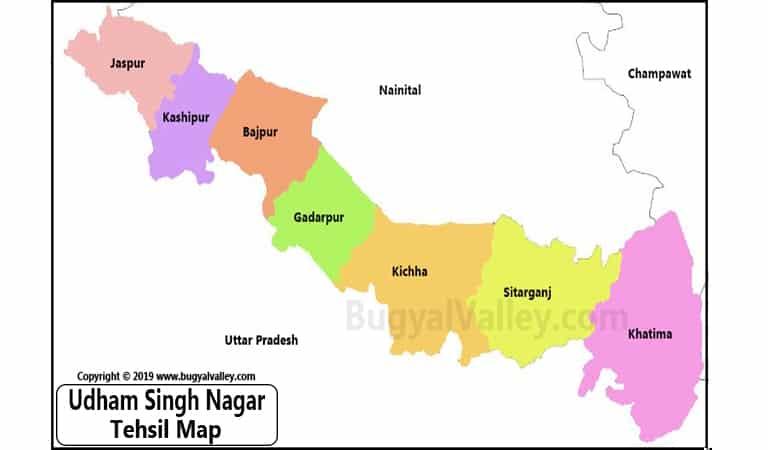 Udham Singh Nagar Map US Nagar