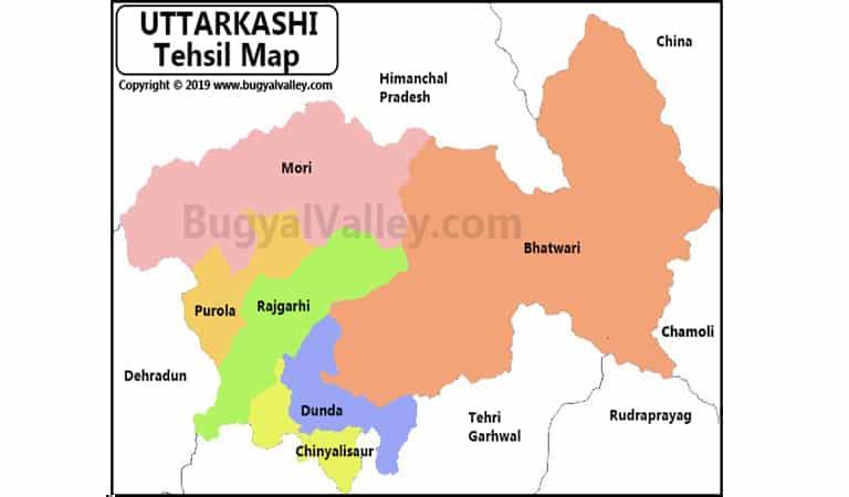 Uttarkashi Map